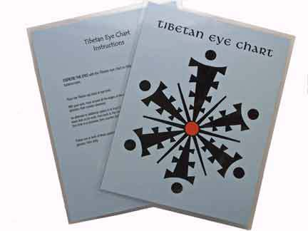 Tibetan Eye Chart in Spanish ~ Laminated Chart